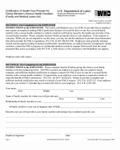 Great FMLA Medical Certification Forms For Family Members Design