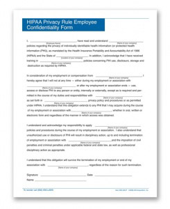 HIPAA Confidentiality Forms | Personnel Concepts