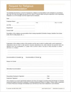 Religious Accommodation Request Form | Personnel Concepts