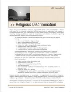 Disability Discrimination Training Handouts