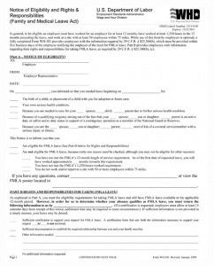 FMLA Notice of Eligibility Forms