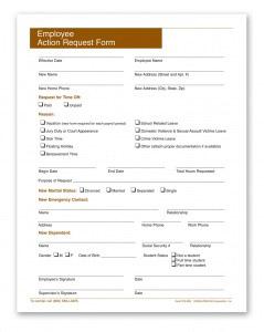 Employee Action Request Form | Personnel Concepts